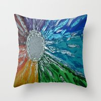 chakra Throw Pillows featuring Chakra Healing by Pixie Willow Art Designs