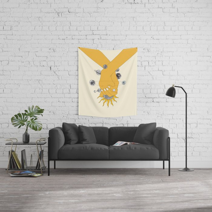 Everything Revolves Around Us Wall Tapestry