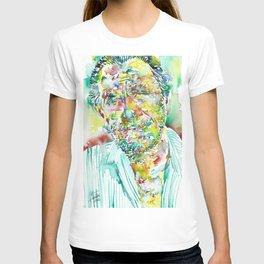 CHARLES BUKOWSKI - watercolor portrait.2 T-shirt