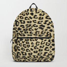 Leopard Print Brown Backpack