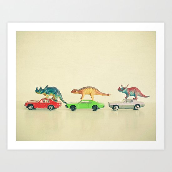 Dinosaurs Ride Cars by cassiabeck