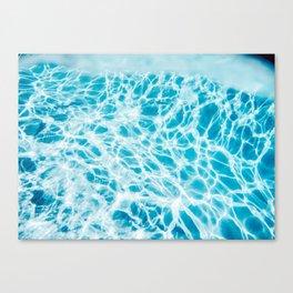 Underwater Photo Swimming Pool Canvas Print