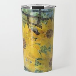 """Sunflowers In The Mist"" Travel Mug"