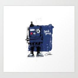 Power Droid: Action Figure Tribute Doodle Art Print