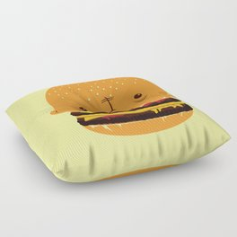Cheeseburgerhead Floor Pillow