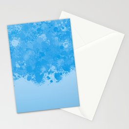 paint splatter on gradient pattern wb Stationery Cards