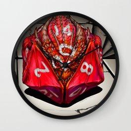 D20 Dragon Dice gaming art Wall Clock