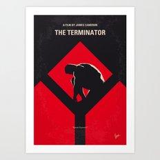 No802-1 My The Terminator 1 minimal movie poster Art Print