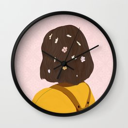 The Flower lady Wall Clock