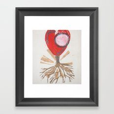 rooted heart Framed Art Print