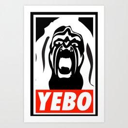YEBO WARRIOR Art Print