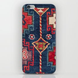 Royal Blue Red Kazak 19th Century Authentic Colorful El Paso Vibes Vintage Patterns iPhone Skin