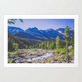 Canyon Creek, Montana Art Print