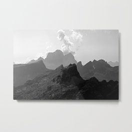 Alps Peaks Mountain Range Metal Print