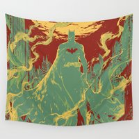 gotham Wall Tapestries featuring Gotham Knight by Hai-ning