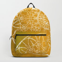 Fire Blossom - Yellow Backpack