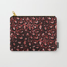 Sexy Red Glam Animal Print Pattern Carry-All Pouch