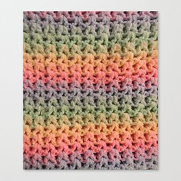 Colorful Chunky Knitted Effect Canvas Print