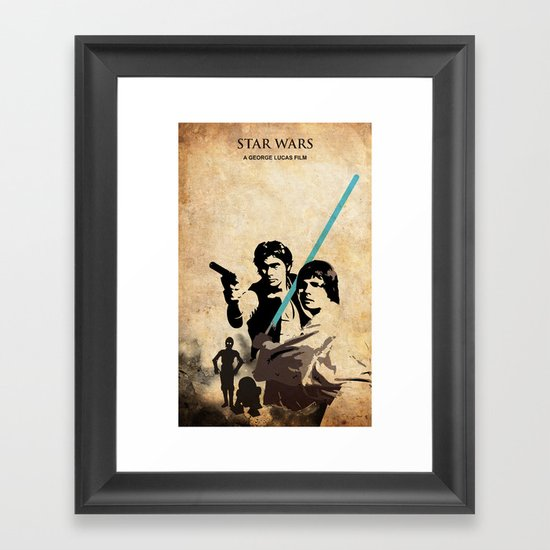 star wars framed art print by edmond lim society6