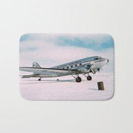 Vintage aviation photograph Alaska Airlines airplane air plane classic pilot flight travel photo Bath Mat