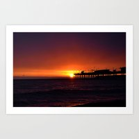 Devon sunrise Art Print