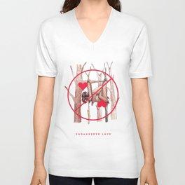 Endangered Love - Sloth Sutra Unisex V-Neck
