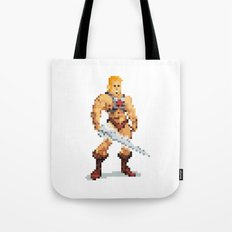 By The Power Of 8-Bit Tote Bag