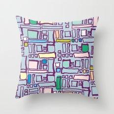 Pastel Block Throw Pillow