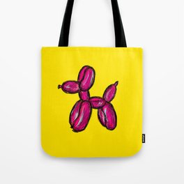 Doggy - pink & yellow Tote Bag