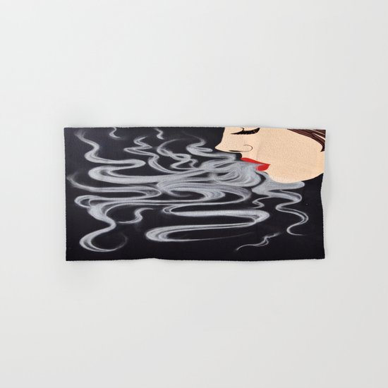 Smoke Dreams, Smoking Lady Series Hand & Bath Towel