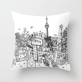 Toronto! Throw Pillow