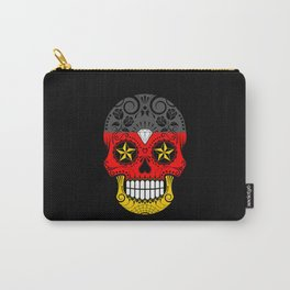 Sugar Skull with Roses and Flag of Germany Carry-All Pouch