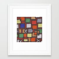 knit Framed Art Prints featuring knit by colli1.3designs