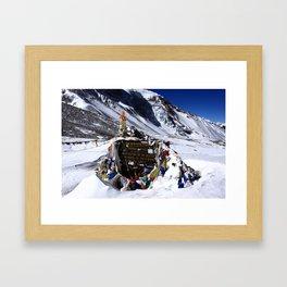 Thorung La Pass, Annapurna Circuit, Nepal Framed Art Print