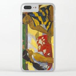 Parau Api / What's news? by Paul Gauguin Clear iPhone Case