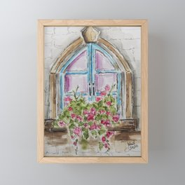 Regal Window Framed Mini Art Print