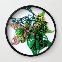 Green with Lime  Fine Art Photography Wall Clock