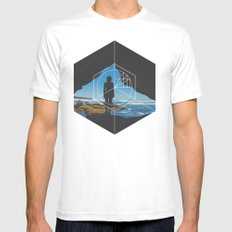 Paradise Cove Girl - Geometric Photography MEDIUM White Mens Fitted Tee