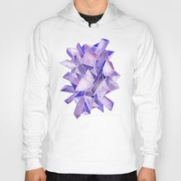 geode Hoodies featuring Amethyst Watercolor by Cat Coquillette