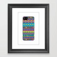 Zephyr Stripes Framed Art Print