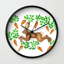 Carrots all around Wall Clock
