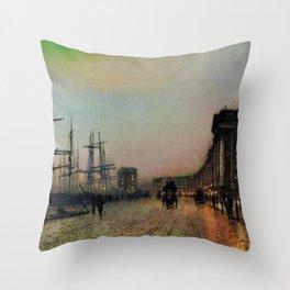 John Atkinson Grimshawn - Canny Glasgow - Digital Remastered Edition Throw Pillow