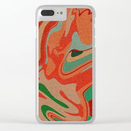 Abstract Colorful Pattern Clear iPhone Case