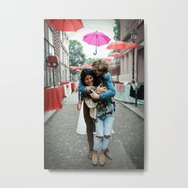 Parisian Mugshots - Singing in the Rain (Gueules de Parisiens) Metal Print
