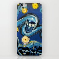 targaryen iPhone & iPod Skins featuring Tardis Starry Night by DavinciArt