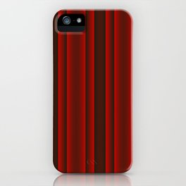 Red and Black Stripes iPhone Case