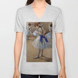"""Edgar Degas """"Dancer"""" Unisex V-Neck"""