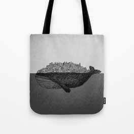 Whale City Tote Bag