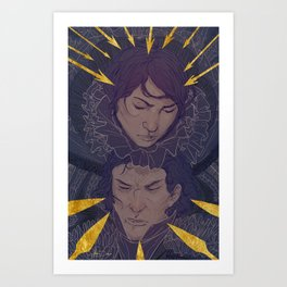 Frightened Eyes Art Print