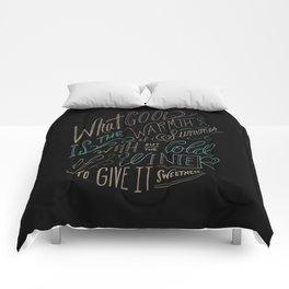 WINTER - Steinbeck Quote Comforters